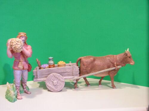 LENOX Nativity RENAISSANCE MERCHANT of BETHLEHEM set NEW in BOX with COA Ox Cart