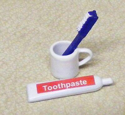 1:12 Scala Dentifricio Brush & Tazza Set Tumdee Casa Delle Bambole Bagno Denti-mostra Il Titolo Originale Facile E Semplice Da Gestire