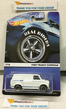 Ford Transit Supervan White * 2015 Hot Wheels Heritage w/ Real Riders * W201