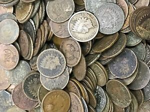 1859-1909-Indian-Head-Cents-Six-Average-Circulated-Cull
