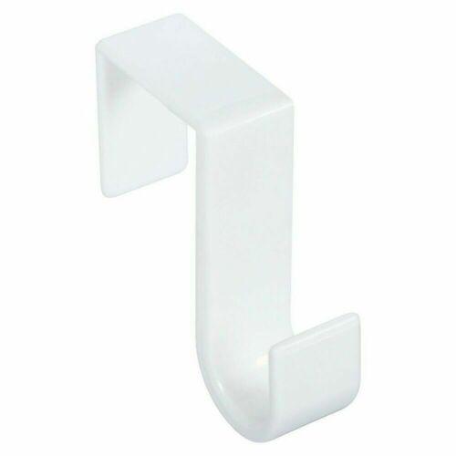 Set of 2 White Over The Door Hanger Plastic Hook