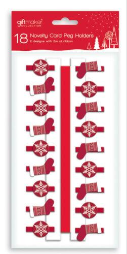 Nouveauté porte-carte chevilles divers modèles avec 2 m ruban Affichage De Noël Cartes NEUF