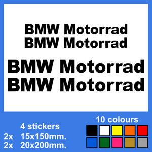 Detalles De 4x Bmw Motorrad Vinyl Decal Sticker Autocollant Aufkleber Adesivi Pegatina