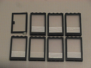 1x4x5 Studs Lego GMT132 8 x Black Doors and Windows with Blind Pattern