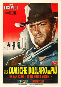 Reproduction-034-Clint-Eastwood-034-Western-Movie-Poster-For-A-Few-Dollars-More