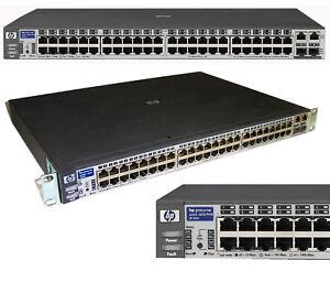 48x 10/100 Commutateur De Réseau Hp Procurve 2650 J4899b 2x4gbit Gigabit