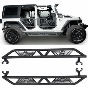 Image Is Loading Texture Black Blade Side Step For Jeep Wrangler