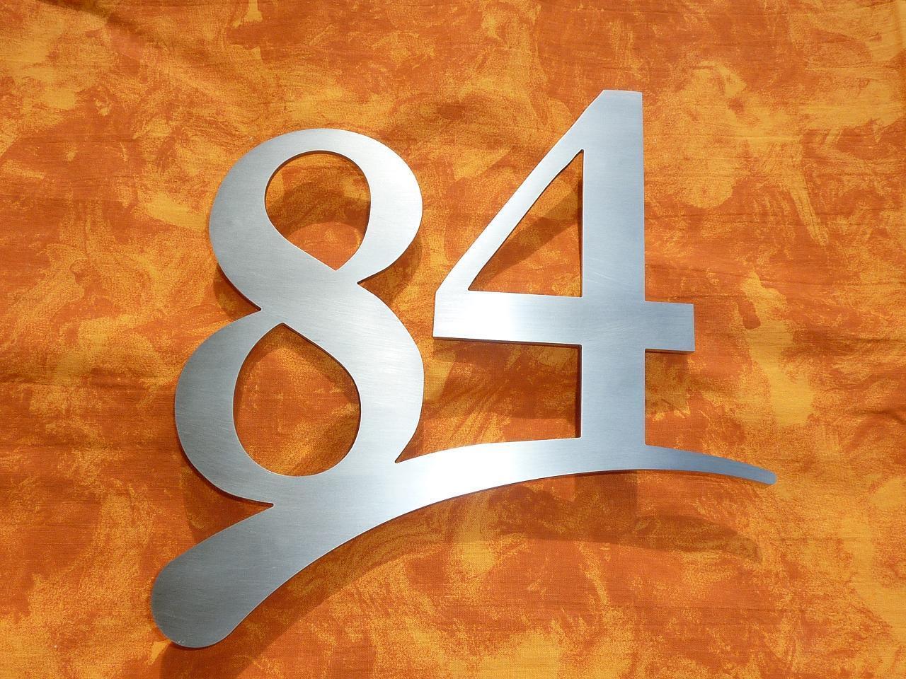 Hausnummer Edelstahl V2A  cm 3 mm  Zweistellig