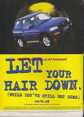 "Toyota Rav4 /""Let Your Hair Down/"" 1995 Magazine Advert #3342"