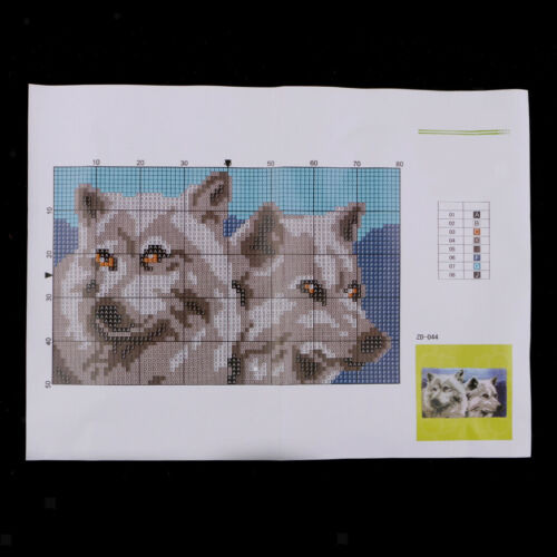 Animal Pattern Latch Hook Rug Kits with Tools DIY Home Ornaments Wolf