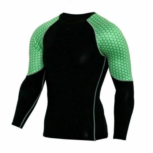 Mens Compression Gym Base Layer Suit T-shirt Tops Tee Sports Long Pants Leggings