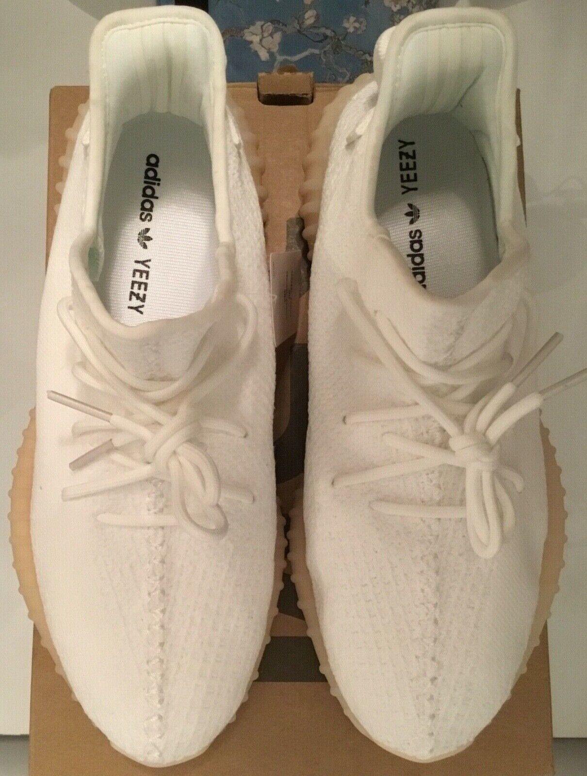 ORIGINALE adidas Yeezy Boost 350 V2 Crema  2US 11 Authentic tutto bianco