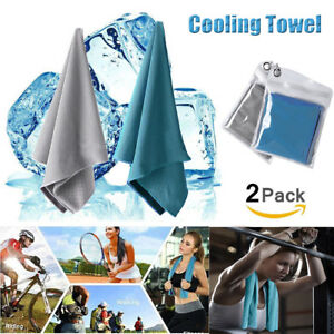 2-Pack-Ice-Cold-Instant-Cooling-Towel-Running-Jogging-Gym-Chilly-Pad-Sports-Yoga