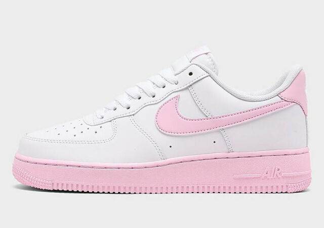 Nike Air Force 1 Low 07 Mens Casual Shoes CK7663 100 White Pink Foam New - 13