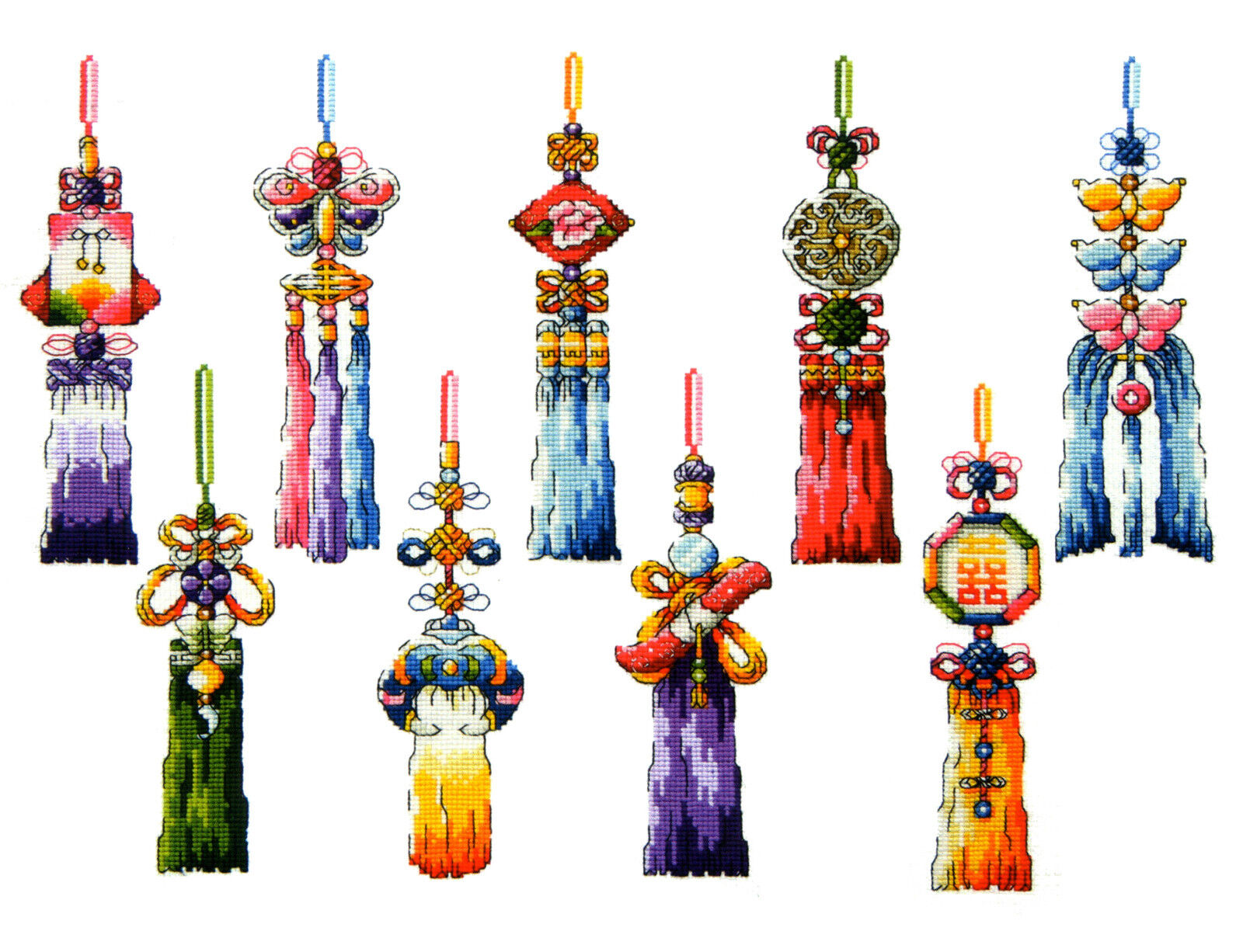 SO-G19 Korean Traditional Accessory-NORIGAE SODA Cross Stitch Pattern leaflet authentic Korean cross stitch design chart color printed on coated paper
