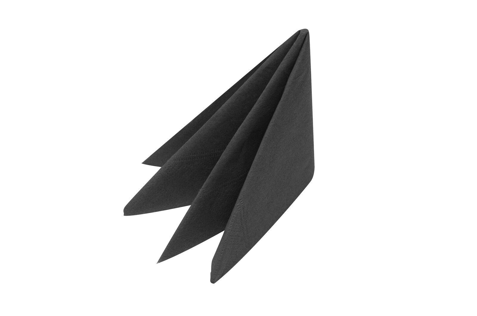 Pavot Noir Serviettes 40x40cm 3ply X 1000  Prix Réduit-Offre Spéciale