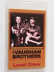 Stevie-Ray-Vaughan-Brothers-Laminated-LOCAL-CREW-Backstage-Tour-Pass
