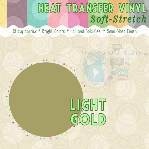 """Heat Transfer Vinyl Soft-Stretch 15/"""" x 12/"""" 1,3,5,10,25 and 50 Yd"""
