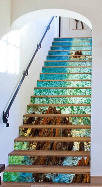 3D Sea Islands 104 Stair Risers Decoration Photo Mural Vinyl Decal Wallpaper AU
