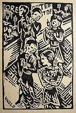 BAYERN: MAX UNOLD: OSTERN OSTERFRÜHLICHT ORIG.-HOLZSCHNITT 1920 BAVARIA BAVIÈRE
