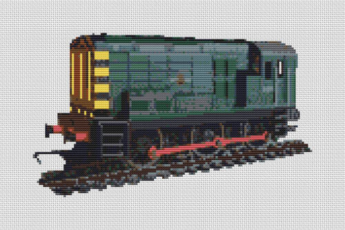 """Modellino Ferrovia Ferroviario COMPLETO contati Punto Croce Kit 12/"""" x 8/"""" GRATIS P/&P"""