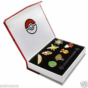 Pokemon-Gym-Badges-Kalos-Region-League-Pins-Brooches-8pcs-New-in-Box-Collection