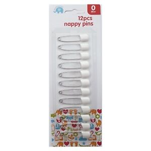 Beautiful Beginnings 12 Baby Nappy Diaper Cloth Pins Safety Clip