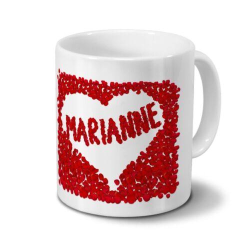 Tasse mit Namen Marianne Rosenherz