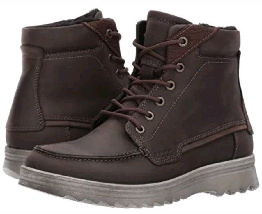 ECCO Mens Darren Mid Cut Hydromax Waterproof Boot, Coffee 42 EU   8 - 8.5 M US