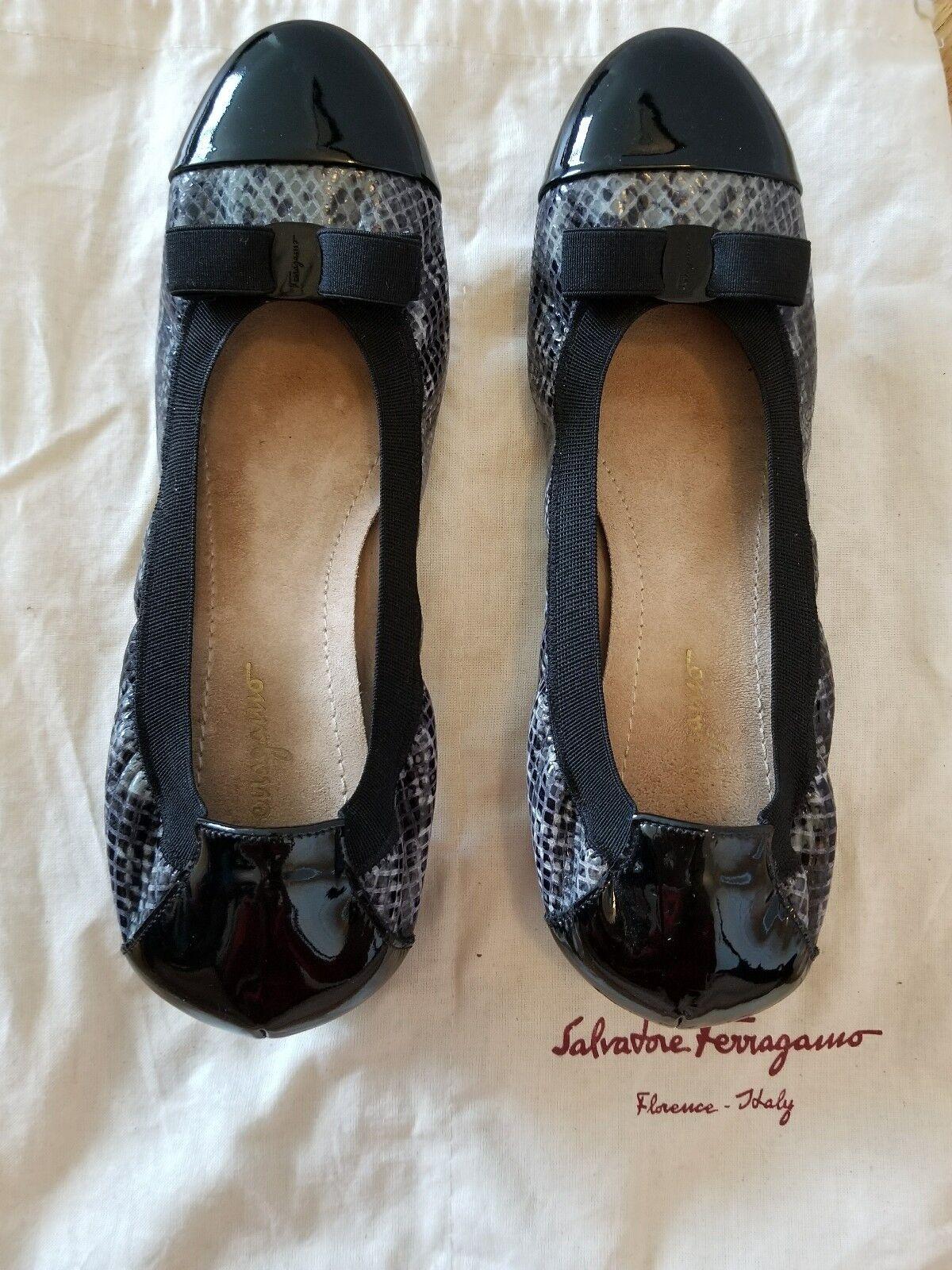 Salvatore Salvatore Salvatore Ferragamo Zapatos 7.5 Negro y gris  ventas en linea
