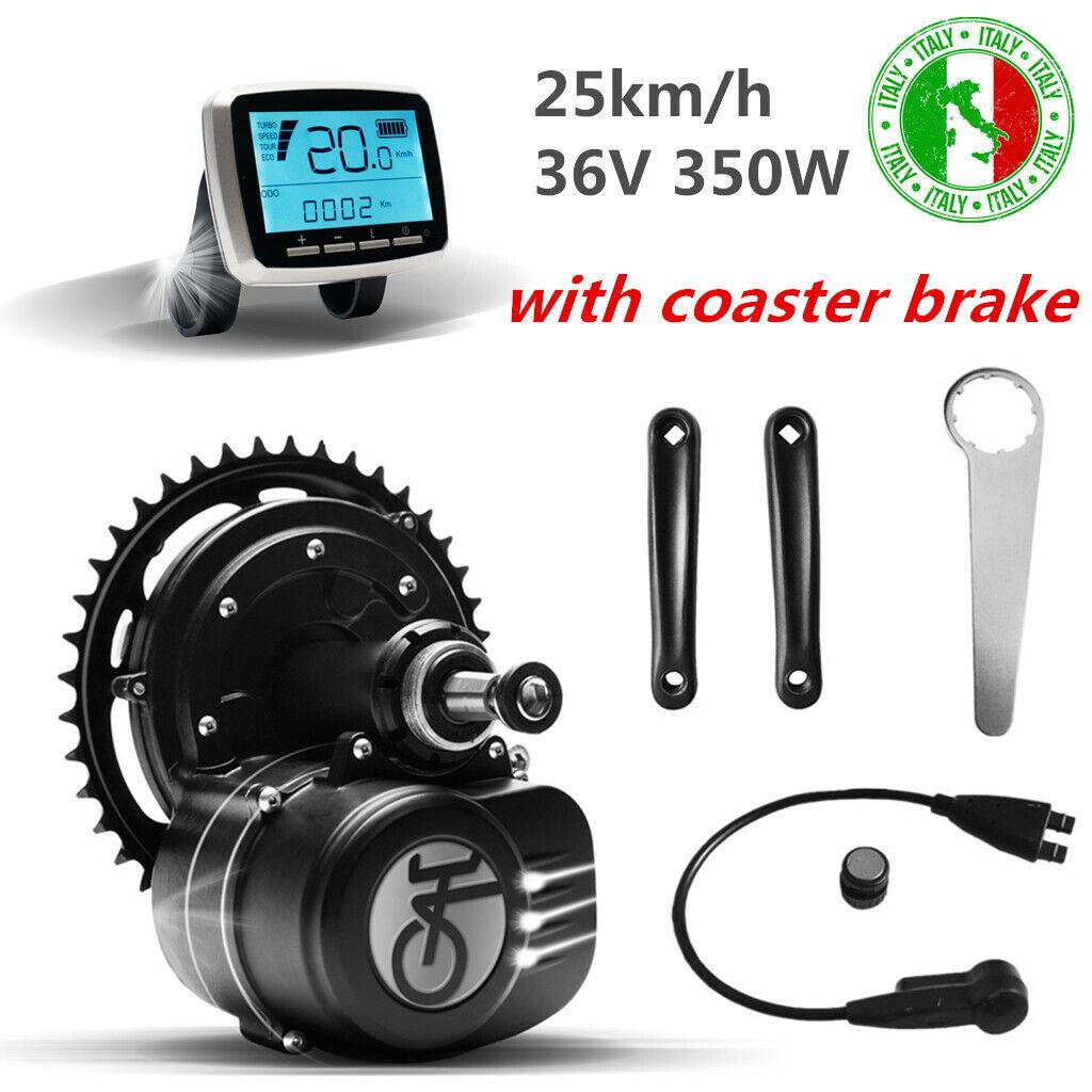 TONGSHENG Motore Bicicletta Elettrica 350W Freno a Contropedale Kit per Ebike