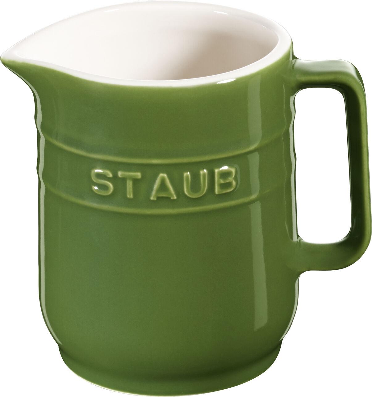STAUB céramique petit pot carafe de lait Rond Basilic green 0,25L lave-vaisselle
