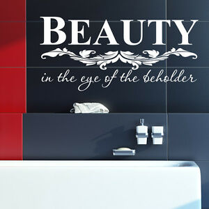 sch nheit badezimmer wand sticker vinyl kunst aufkleber. Black Bedroom Furniture Sets. Home Design Ideas