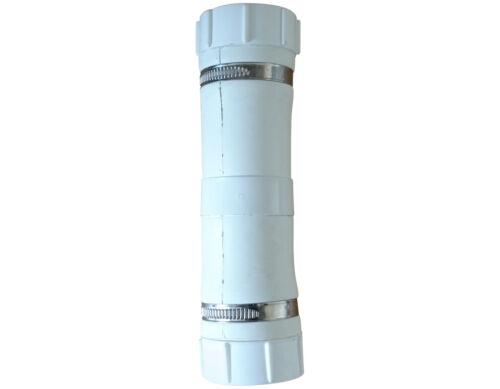Uniflo Macerator straight white rubber in-line non return valve  32 to 36mm