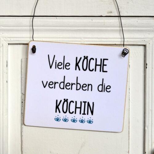 lustiges Schild VIELE KÖCHE VERDERBEN DIE KÖCHIN