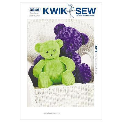KWIK SEW SEWING PATTERN CRAFTS BEARS SAMLL & LARGE K3246
