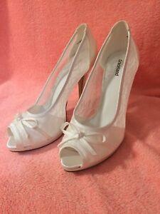 on sale 879d5 0f2e8 Details zu Pumps Weiß Spitze 37 Brautschuhe Dirndl Tracht Hochzeitsschuhe