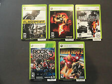 XBOX 360 LOT OF 5 GAME DISPLAY BACKER CARDS / MINI POSTERS - RESIDENT EVIL +