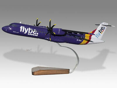 Models Aeronautica Objective Atr-72-500 Flybe Stobart Solid Kiln Dried Mahogany Wood Handmade Desktop Model