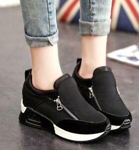 comfortable women's breathable casual platform heels
