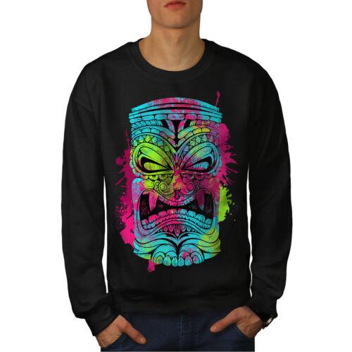 New Cool Fashion Men Felpa Black psichedelica BIqHO