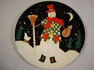 Certified International Becca Barton Christmas Snowman Plate ...