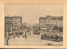 Berlin Germany, Busy Street Scenes, 3 Images, Vintage 1901 German Antique Print