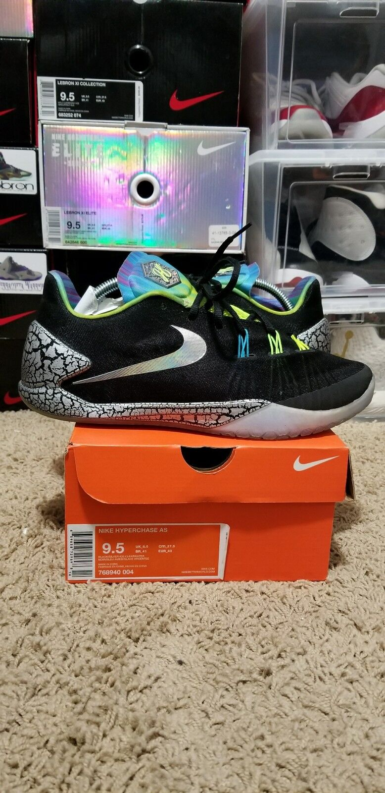 Nike Hyperchase AS All Star Star All Galaxy James Harden SIZE 9.5 LeBron Jordan 12 8 11 1 ff29aa