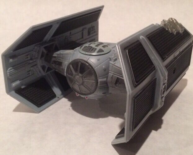 STAR WARS ACTION FLEET DARTH VADER'S BATTLE DAMAGED TIE FIGHTER OF DEATH PLAYSET