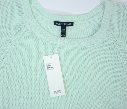 Xl Green verde fiammata Nwt di da Maglioncino Size donna Eileen lana in Fisher wPaHvBq