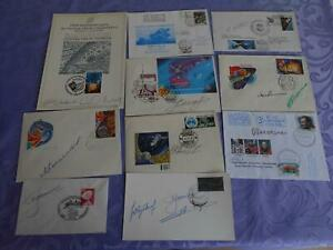 Sojus  10 Belege 17x original signert Cosmonauten Space