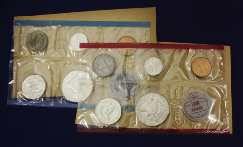 "10 coins Both /""P/"" /& /""D/"" Mint Set Complete and original 1963 Official U.S"