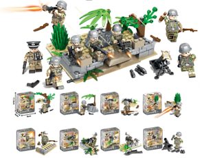 Bausteine-Figur-Militaer-Soldat-Festungsturm-Basis-Waffen-Kinder-Spielzeug-Kind