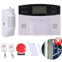 LCD Wireless Alarm System IR Detector GSM SMS Home Burglar Security Sensor Call